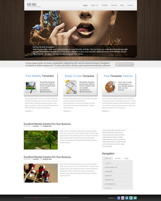 free weebly themes and templates - weebly themes weebly templates muse theme divtag
